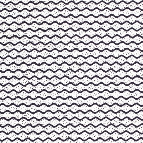 Tissu décoration Loneta formes blanc optique vagues