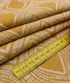 Coton panama look lin Losanges ocre